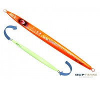 Isca artificial metal Jig Sea Fishing modelo Mig 190g cor Laranja - Glow
