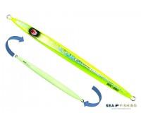 Isca artificial metal Jig Sea Fishing modelo Mig 190g cor Limão - Glow