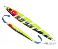 Isca artificial metal Jig Sea Fishing modelo Oka 200g cor Limão - Glow