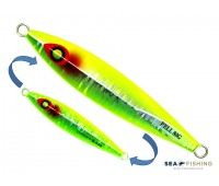 Isca artificial metal Jig Sea Fishing modelo Pell 80g cor Limão