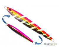 Isca artificial metal Jig Sea Fishing modelo Oka 200g cor Rosa - Glow