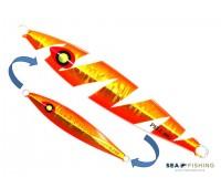 Isca artificial metal Jig Sea Fishing modelo Pell 80g cor Laranja - Glow