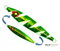 Isca artificial metal Jig Sea Fishing modelo Pell 80g cor Verde - Glow