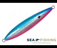 Isca artificial Slow Jig Sea Fishing modelo Rusty 100 g cor Rosa e Azul