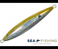Isca artificial Slow Jig Sea Fishing modelo Rusty 100 g cor Amarelo