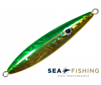 Isca artificial Slow Jig Sea Fishing modelo Rusty 80 g cor Verde e Amarelo