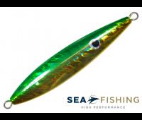 Isca artificial Slow Jig Sea Fishing modelo Rusty 100 g cor Verde e Amarelo