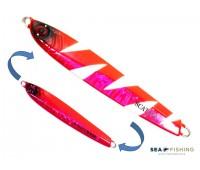 Isca artificial metal Jig Sea Fishing modelo Scat 60g cor Rosa - Glow