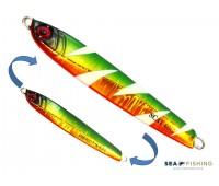 Isca artificial metal Jig Sea Fishing modelo Scat 60g cor Verde - Glow