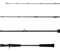 "Vara carretilha Lumis Jigging Pro 6""3' (1,89 m) 20 a 40 lbs - PE 2 a 4 - Jig 60 a 150 gr"