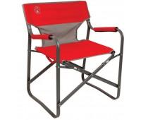Cadeira Coleman Dobrável Steel Deck - Vermelho