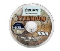 Linha Monofilamento Crown Titanium (nylon) - 0,37mm - 25lbs - 100m interligados!