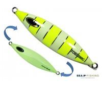 Isca artificial metal Jig Sea Fishing modelo Tobi 500g cor Limão - Glow