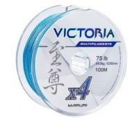 Linha multifilamento Maruri Victoria 4x 0,14 mm - 22lbs - 100 m - Azul
