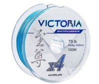Linha multifilamento Maruri Victoria 4x 0,24 mm - 35lbs - 100 m - Azul