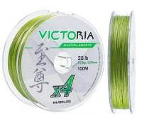 Linha multifilamento Maruri Victoria 4x 0,18 mm - 24lbs - 100 m - Verde