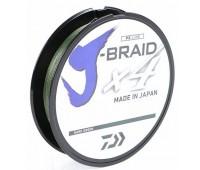 Linha multifilamento Daiwa J-Braid 4X - 0,33 mm - 50 lbs - 270 m - Verde