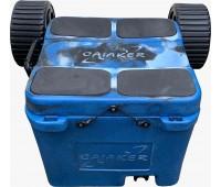 Caiaker Smart Cooler + Carrinho + Cinta - Azul