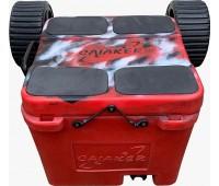 Caiaker Smart Cooler + Carrinho + Cinta - Vermelho